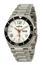 Cobra - CO510SS1M - Gents - Self-Winding Automatic - White Dial - Golden Stainless Steel Strap