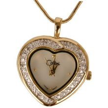 Colibri Heart Pendent CZ Stones Locket With Chain Keepsake Box PWD020003