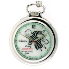 "Colibri Monopoly Pocket w/ Chain ""Just Visiting In Jail"" Charm PMS120000 SALE"