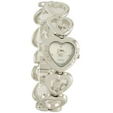 Colibri Mother's Joy 4 Diamond Silver Tone Child in Heart Bracelet Quartz