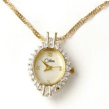 Colibri Pendent CZ Diamond Stones Locket With Chain Goldtone Keepsake Heart Box PWD020007 SALE