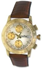 Condor Automatic Chronograph Tachymetre Scale 18k Gold Strap Date 18kt