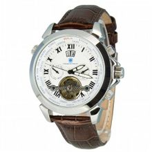 Constantin Durmont Automatic CD-TAHO-AT-LT-STST-WH with Leather Strap