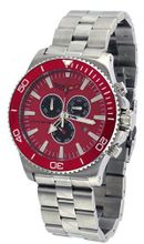 Corvette #CR215-4 Grand Sport Stainless Steel Chronograph Red Dial
