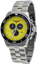Corvette #CR215-4 Grand Sport Stainless Steel Chronograph Yellow Dial