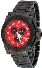 Corvette #CR220-MIPB Black IP Stainless Steel Red Dial Swiss Chronograph