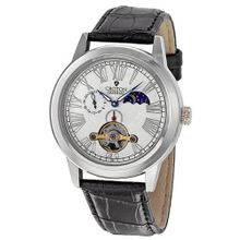 Croton Automatic White Dial Stainless Steel Black Leather CI331070BSKB