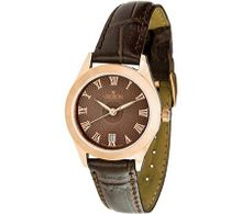 Croton Brown Leather Strap Ladies CN207109BRBR