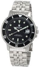 Croton CA301011SSBK All Stainless Black Dial Date