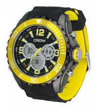 CROW-NO Chronograph 5ATM Sports Yellow