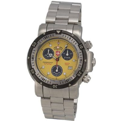 CX Swiss Military Unisex 1728 Solid Nickel-Free Diving Chronograph