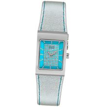 D&G Dolce & Gabbana DW0157 White Crystal Silver Leather