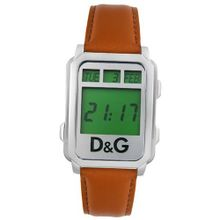 D&G Dolce & Gabbana DW0160 Sea Quest Collection Digital Brown Leather