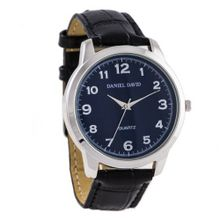 Daniel David DD10702 - Casual - Dark Blue Dial & Black Crocodile Style Leather Band