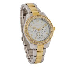 Daniel David DD11502 - Dress - Two-Tone Silver & Gold tone Stainless Steel with Cubic Zirconia