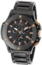 Daniel Steiger 8008-M Milano Ion-Plating Black and Rose Gold Fused Chronograph