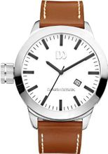 Danish Design Iq12q1038 Stainless Steel Leather Band