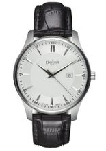 Davosa Classic Analogue 16246615 with White Dial and 40 mm Stainless Steel Case