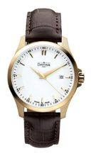 Davosa Classic Analogue 16246715 with White Dial and 40 mm Stainless Steel Plated Case