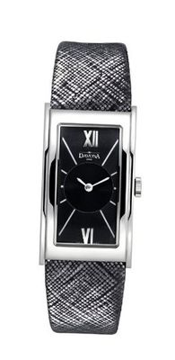 Davosa Quartz with Black Dial Analogue Display and Black Leather Strap 16755555