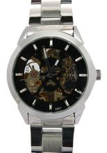 Daybird Black skeleton bone Dial Automatic Stainless Steel es