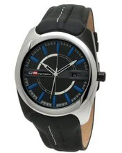 DFactory DFB020YBB White Label Black Dial Black Leather Strap