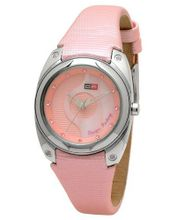 DFactory DFI014ZPP White Label Pink and Mother of Pearl Dial PU and Leather Strap