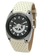 DFactory DFI021YBW White Label Black Dial Cream Leather Strap