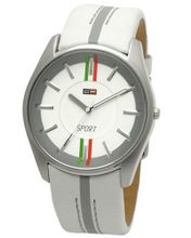 uDfactory DFactory DFC003ZWE White Label White Dial White Leather Strap