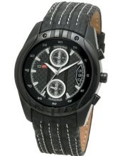 uDfactory DFactory DFU012WBB Black Label Black Dial Leather Chronograph