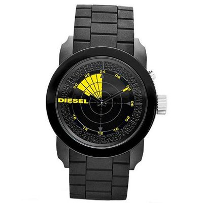 Diesel Double Down 44 RDR Silicone - Black #DZ1605