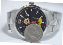Disney Mickey Mouse Stainless Steel Black Face Tachometer MCK834