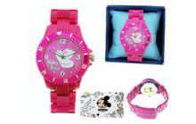 uDisney Interactive Studios Mickey Mouse Disney Pink High Tech Strap & Crystal on Dial Genuine Disney