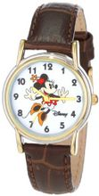 Disney D073S007 Minnie Mouse Brown Leather Strap