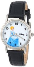 Disney D082S005 Cinderella Black Leather Strap