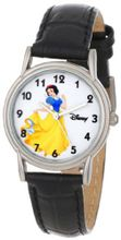 Disney D084S005 Snow White Black Leather Strap