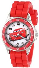 Disney Kids' CZ1009 Analog Display Analog Quartz Red