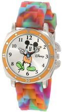 Disney Kids' MK1191 Mickey Mouse Tie-Dye Rubber Strap