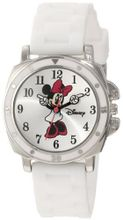 Disney Kids' MN1064 Minnie Mouse White Rubber Strap