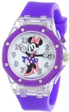 Disney Kids' MN1131 Analog Display Analog Quartz Purple