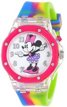 Disney Kids' MN1172 Analog Display Analog Quartz Pink