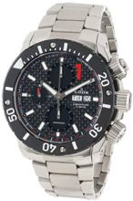 Edox 01115 3 NIN Class 1 Automatic Stainless Steel Chrono Rotating Bezel