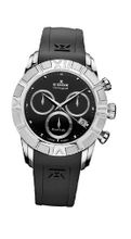 Edox 10405 3 NIN Royal Lady Chronograph Black Dial Rubber