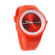 Eeleva  Rubber Silicone Gel Quartz Jelly Candy Wrist Red