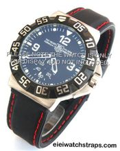 20mm 'soft touch' silicon rubber strap with RED stitching Fits TAG Heuer Formula 1