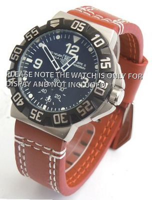 22mm Heavy Hand Stitches Leather Strap Fishtail Buckle ideal for TAG Heuer Formula 1