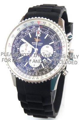 uEIEI 22mm High grade silicon 'soft touch' rubber oyster pattern with curved lugs Fits Breitling Navitimer