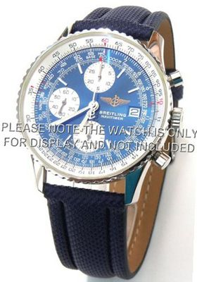 uEIEI 22mm High quality Navy Blue polyurethane Waterproof strap For Breitling Navitimer