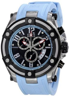 Elini Barokas ELINI-10056-01-BBLSA Gladiator Analog Display Swiss Quartz Blue