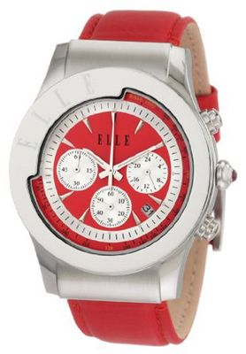 ELLETIME EL20037S06N Red Chronograph Leather